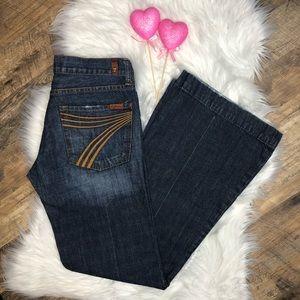 7 For All Mankind Medium Wash DOJO Flare Jeans
